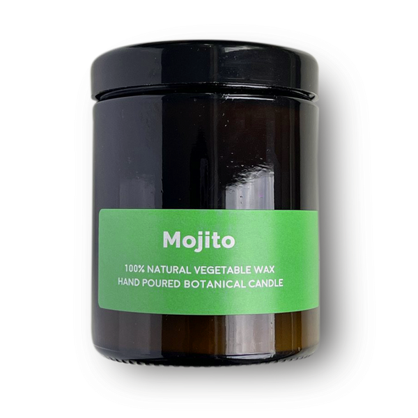 Mojito -  Pippettes 20 hour Soy Hand-poured Candles in Amber Glass Jar