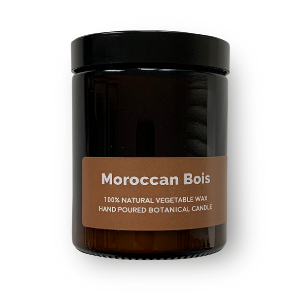 Moroccan Bois -  Pippettes 20 hour Soy Hand-poured Candles in Amber Glass Jar