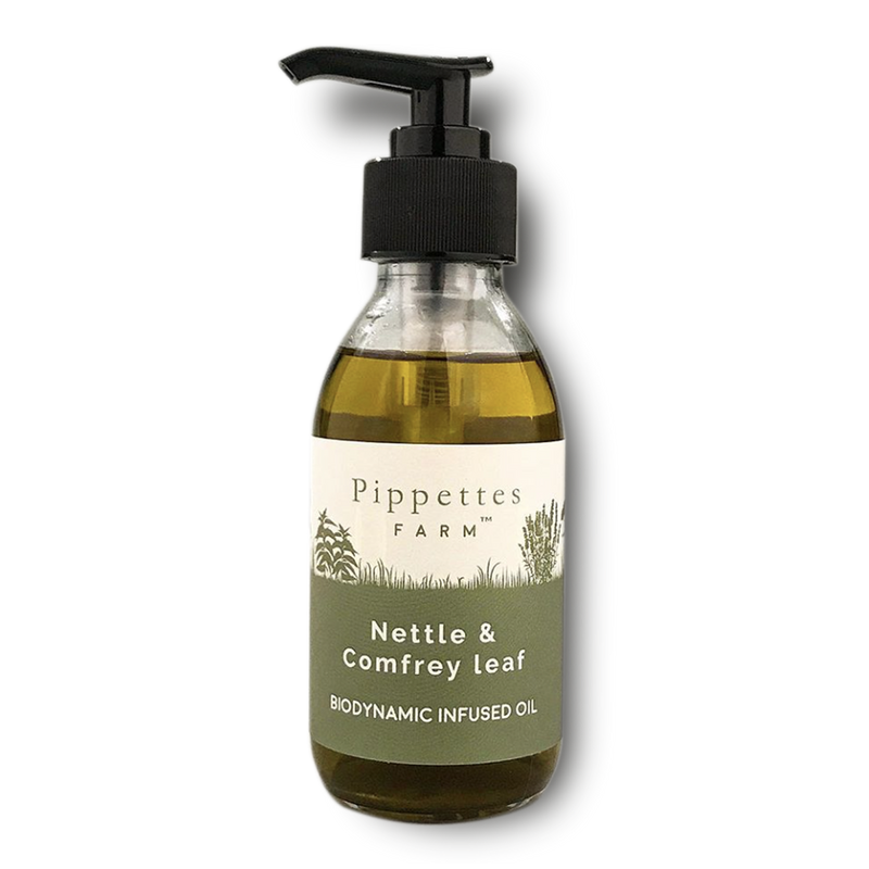 nettle and comfrey infused detoxifying and anti-inflammatory oil