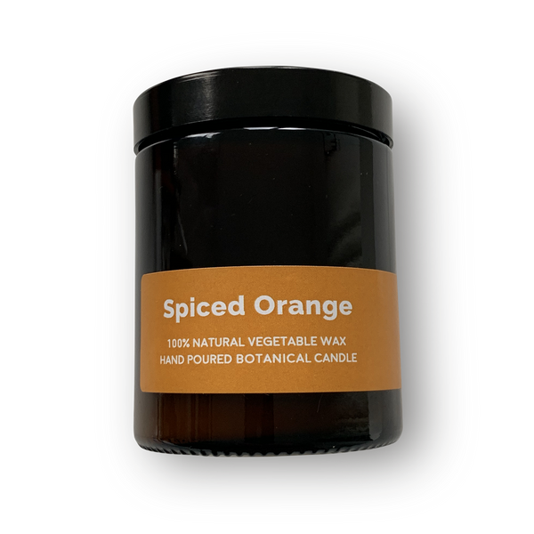Spiced Orange - Pippettes 20 hour Soy Hand-poured Candles in Amber Glass Jar
