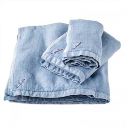 Chambray Towels-Blue