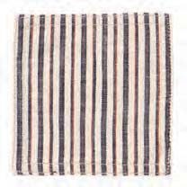 Tricolor Stripe Ivory Coasters (set of 6)