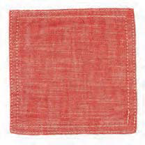 Chambray Red Coasters (set of 6)
