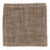 Chambray Khaki Coasters (set of 6)