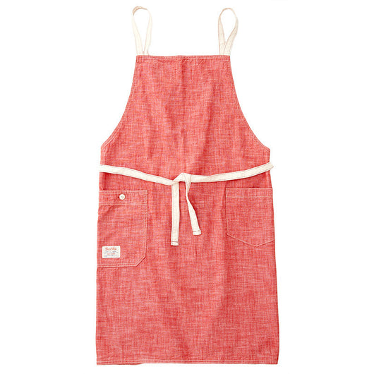 Chambray Red Bib Apron