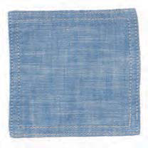 Chambray Blue Coasters (set of 6)