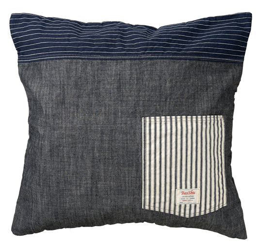 Denim Cushion Cover-Navy