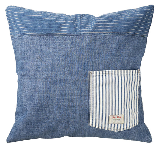 Denim Cushion Cover-Blue