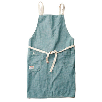 Chambray Green Bib Apron