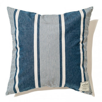 Indigo Cushion Cover-Stripe B