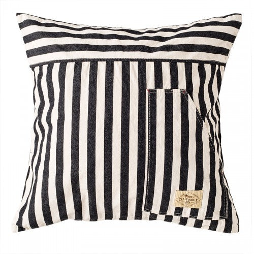 50's Cushion Cover-Hickory BK & WH