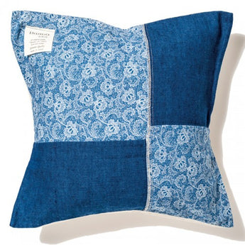 Indigo Cushion Cover-Calico