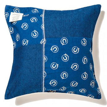 Indigo Cushion Cover-Horse
