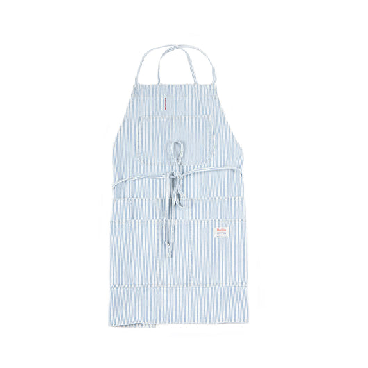 Hickory Stripe White Work Apron