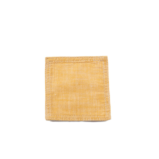 Chambray Yellow Coasters (set of 6)