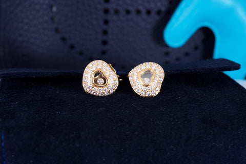 35.000 Estate Chopard Happy Diamond Heart Earrings and Necklace