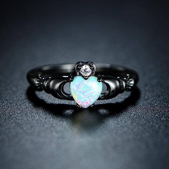 Black Opal Spiritual Connection Ring #NGERINGS