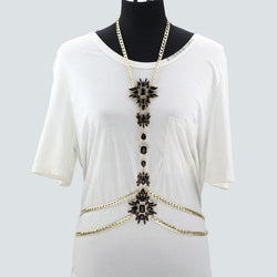 Summer Luxury Body Chain for Women, Flower Necklace & pendant