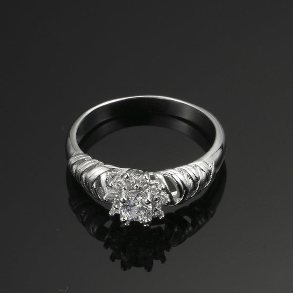 Winter-Snow Flower, Commitment, Wedding or Engagement Ring