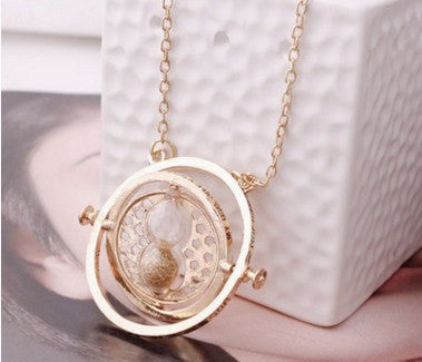 Harry Potter Series hourglass time-turner pendant necklace