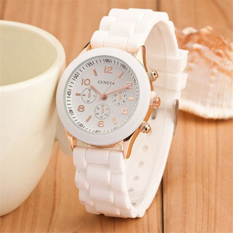 Womens Geneva Casual 2017 Quartz Silicone Nursing Dress Watch