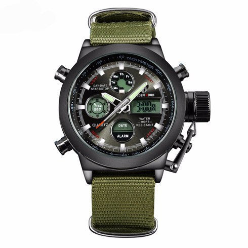 Men's Military Canvas Wrist Watch