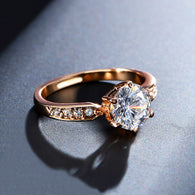 1.75ct Austrian Crystal Engagement Ring rose gold