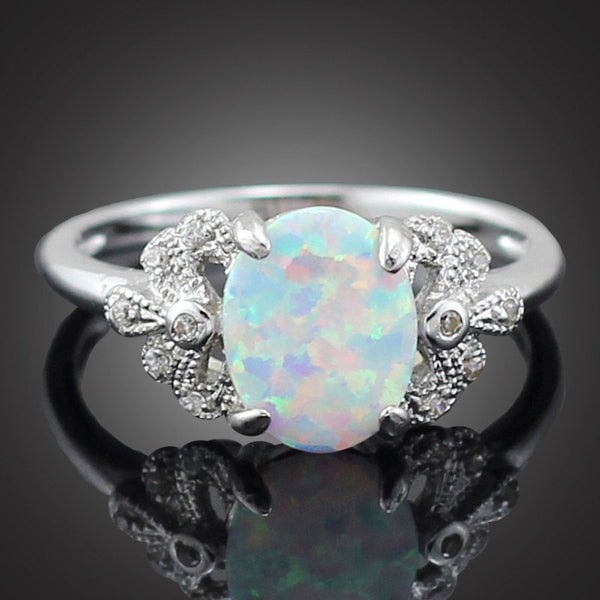 Crystal Essence White-Fire Opal Ring #NGERINGS