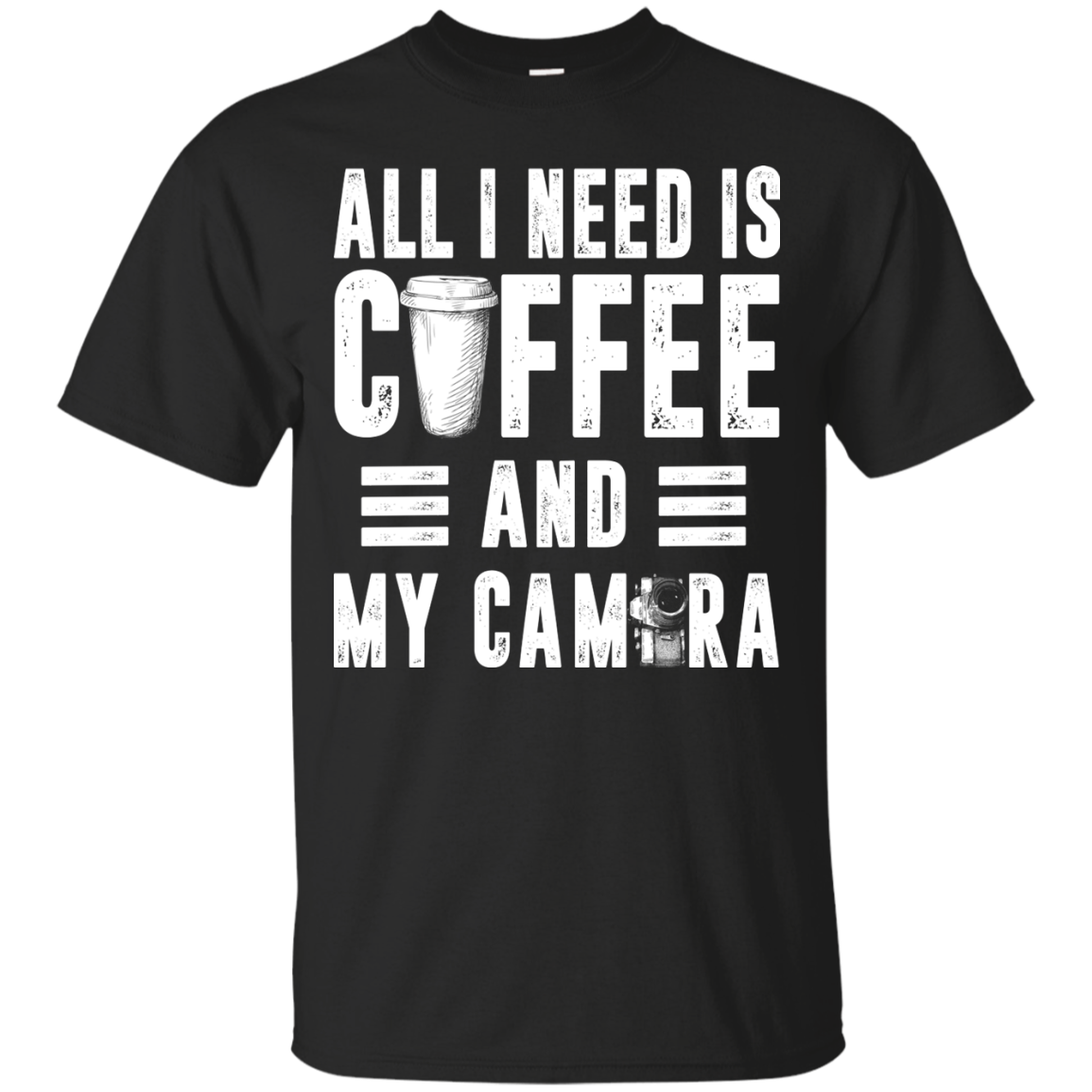 Coffee and My Camera Men T shirt