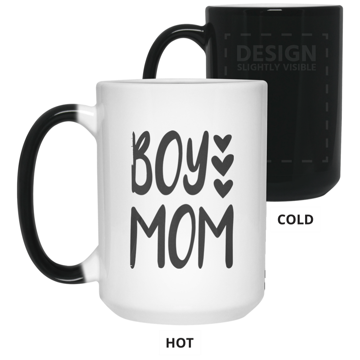 Boy Mom Love Hearts Cute for New Mothers of Baby T Shirt Color Changing Mug 15oz