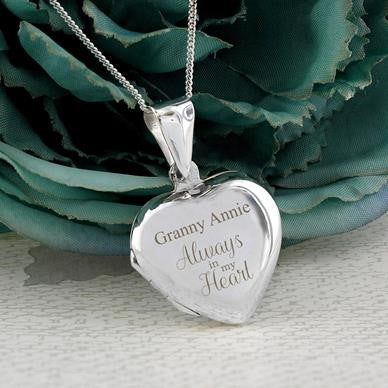Sterling Silver Heart Lockets