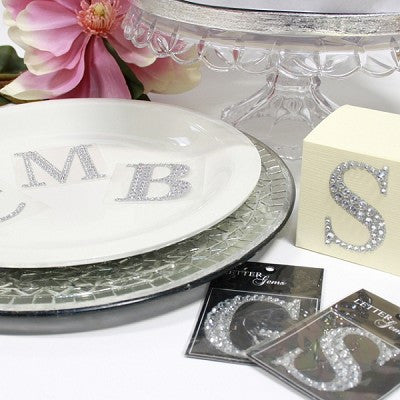 Sparkling Gemstone And Glitter Monogram Letter's