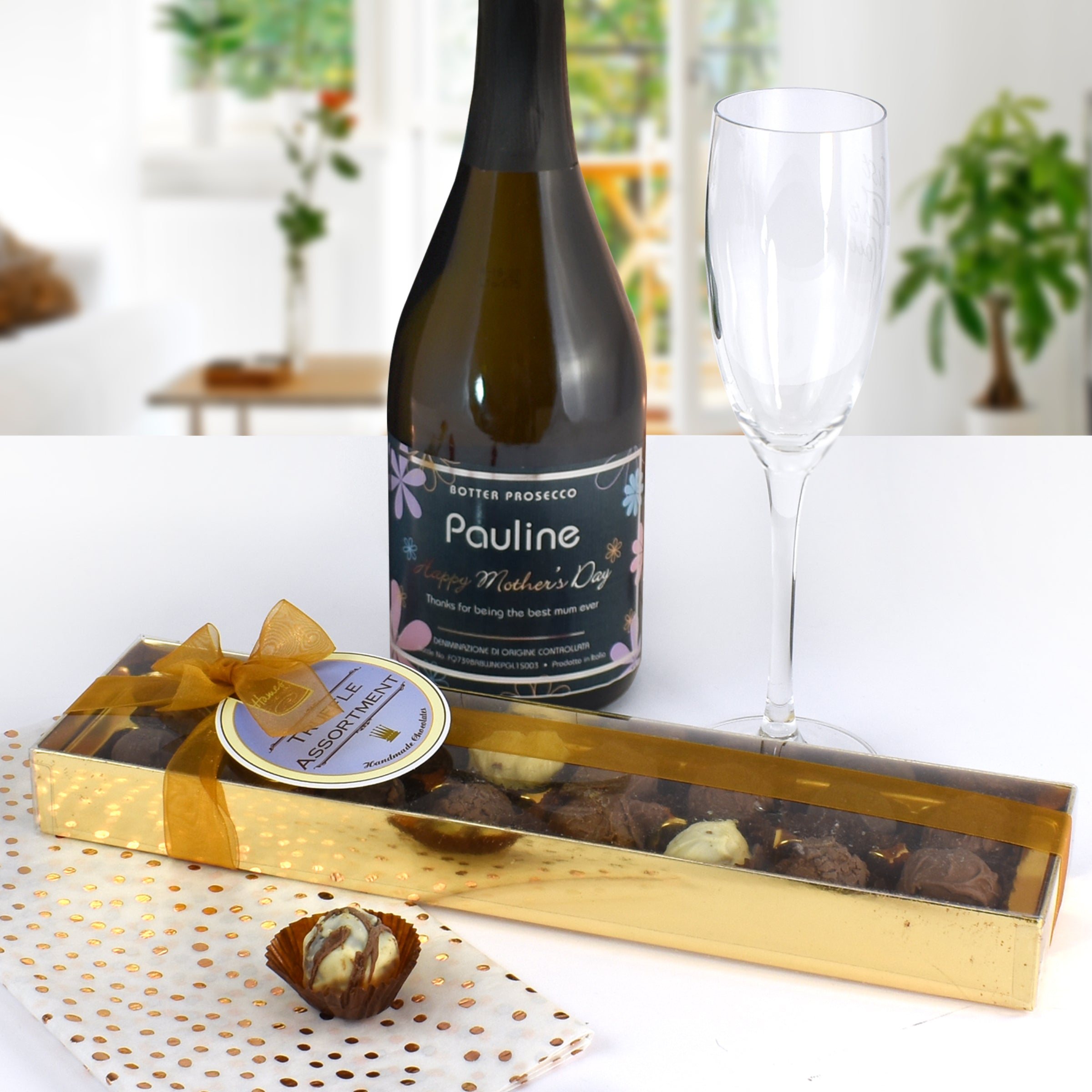 Personalised Mother's Day Prosecco & ChocolateTruffles, Food, Beverages & Tobacco by Low Cost Gifts
