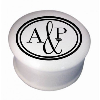 "Monogram Circle 3"" Round Trinket Box 