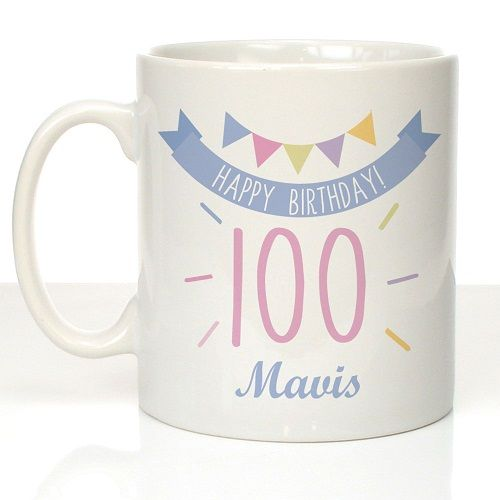 100th Birthday Bunting Mug For Her
