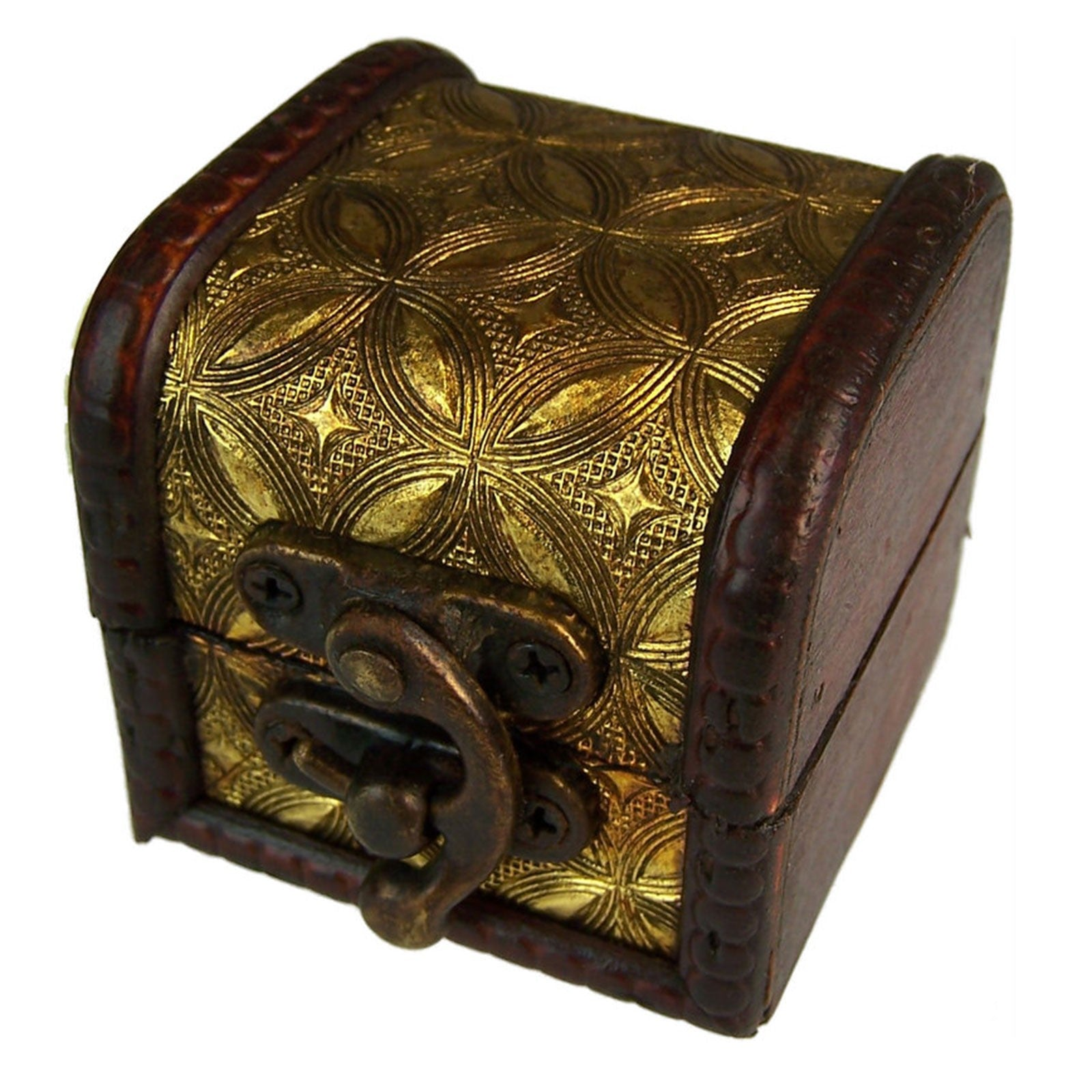 Mini Colonial Boxes - Gold, Pill Boxes by Low Cost Gifts