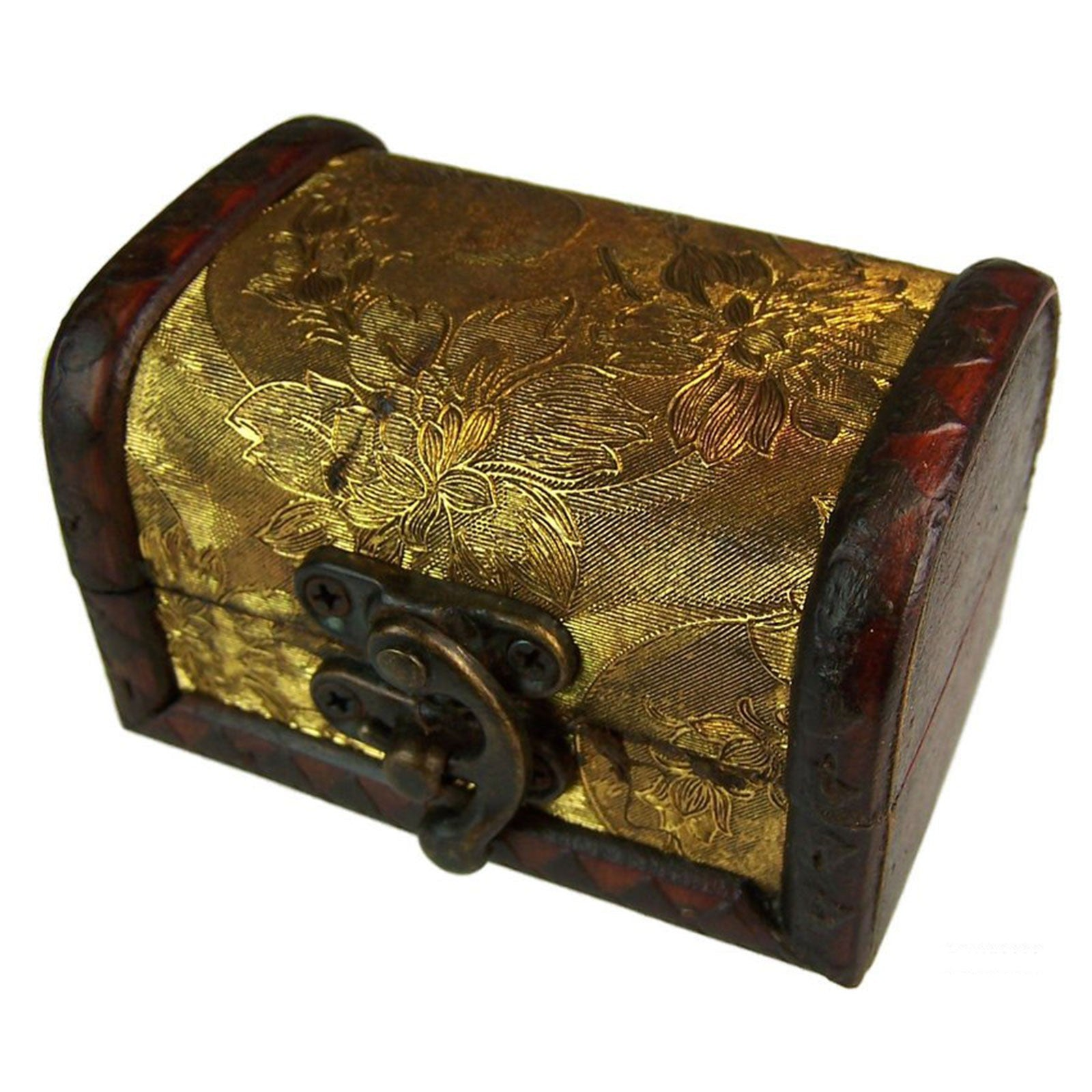 Med Colonial Boxes - Gold Panel, Pill Boxes by Low Cost Gifts
