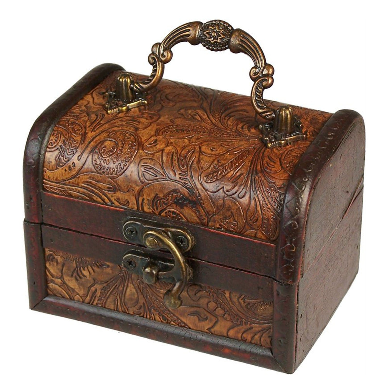 MLrg Colonial Boxes - Floral Embossed, Pill Boxes by Low Cost Gifts