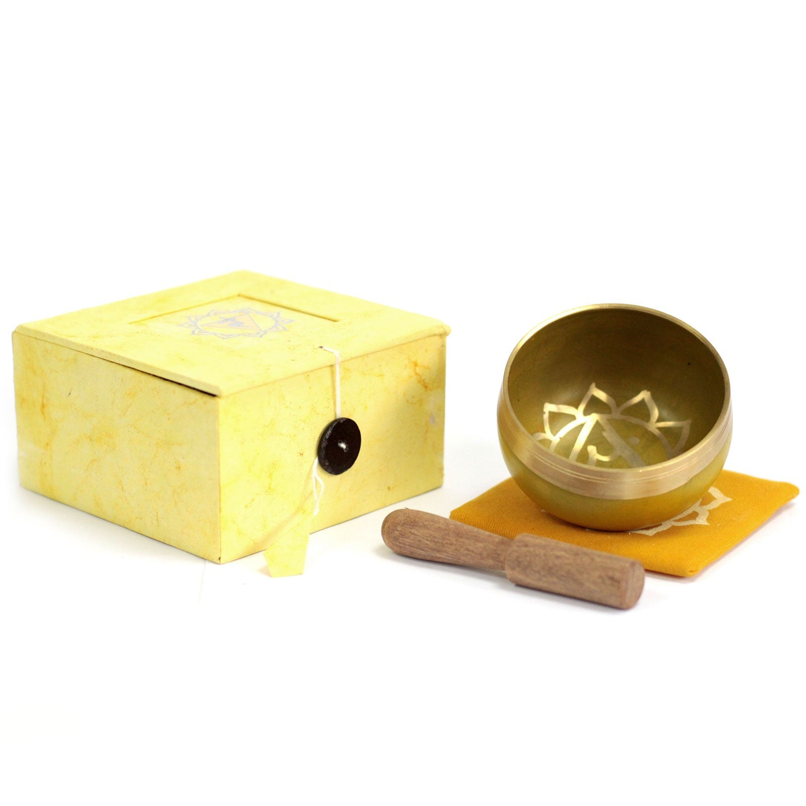 Chakra Singing Bowl - Solar Plexus, Musical Instrument & Orchestra Accessories by Gifts24-7