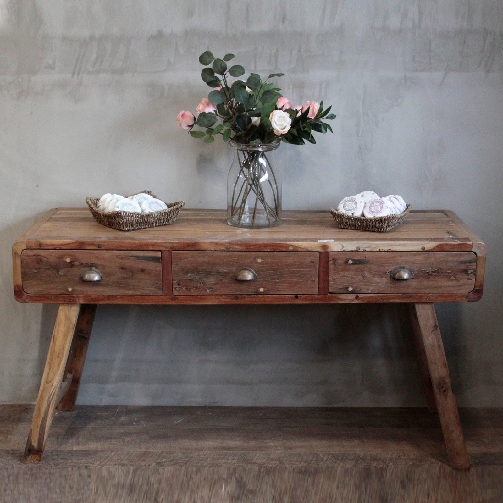 Console Table - Recycled Wood - 150x50x80cm, Furniture by Low Cost Gifts