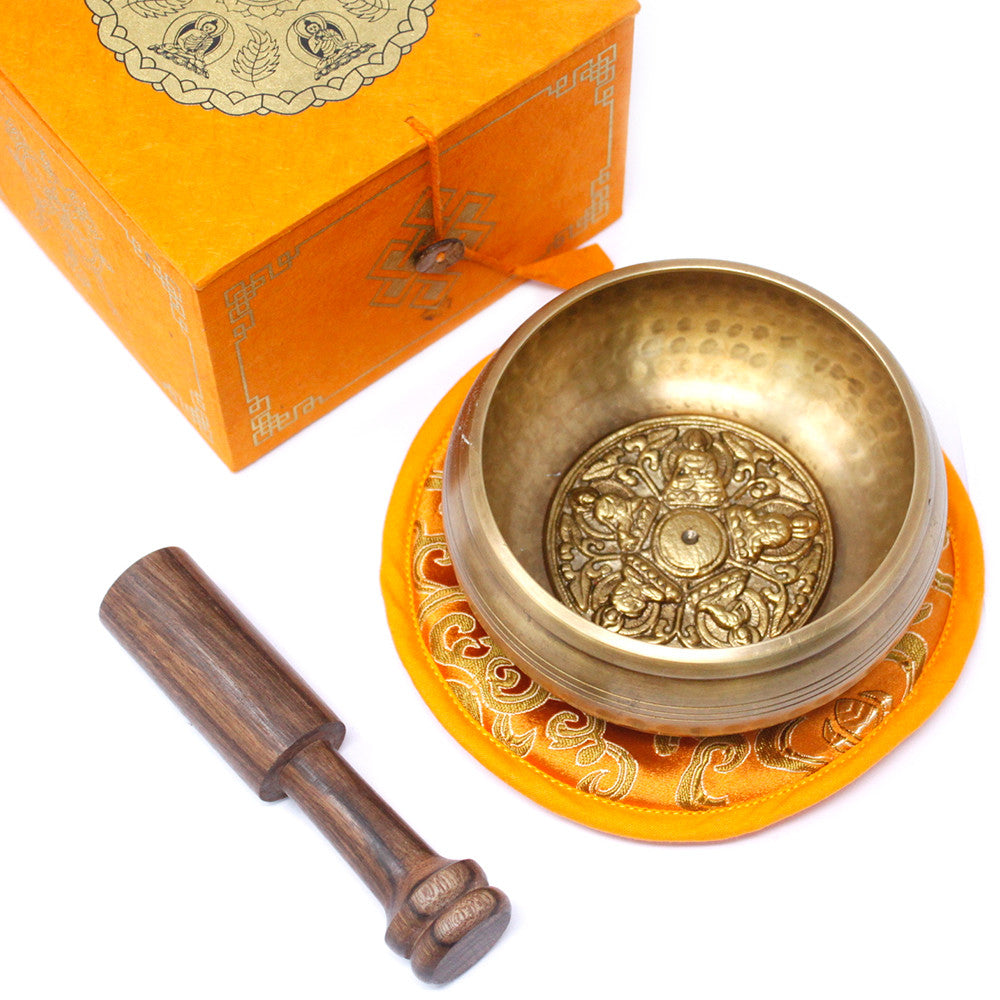 Five Buddha Singing Bowl Set 10cm (min 400gm), Musical Instrument & Orchestra Accessories by Gifts24-7