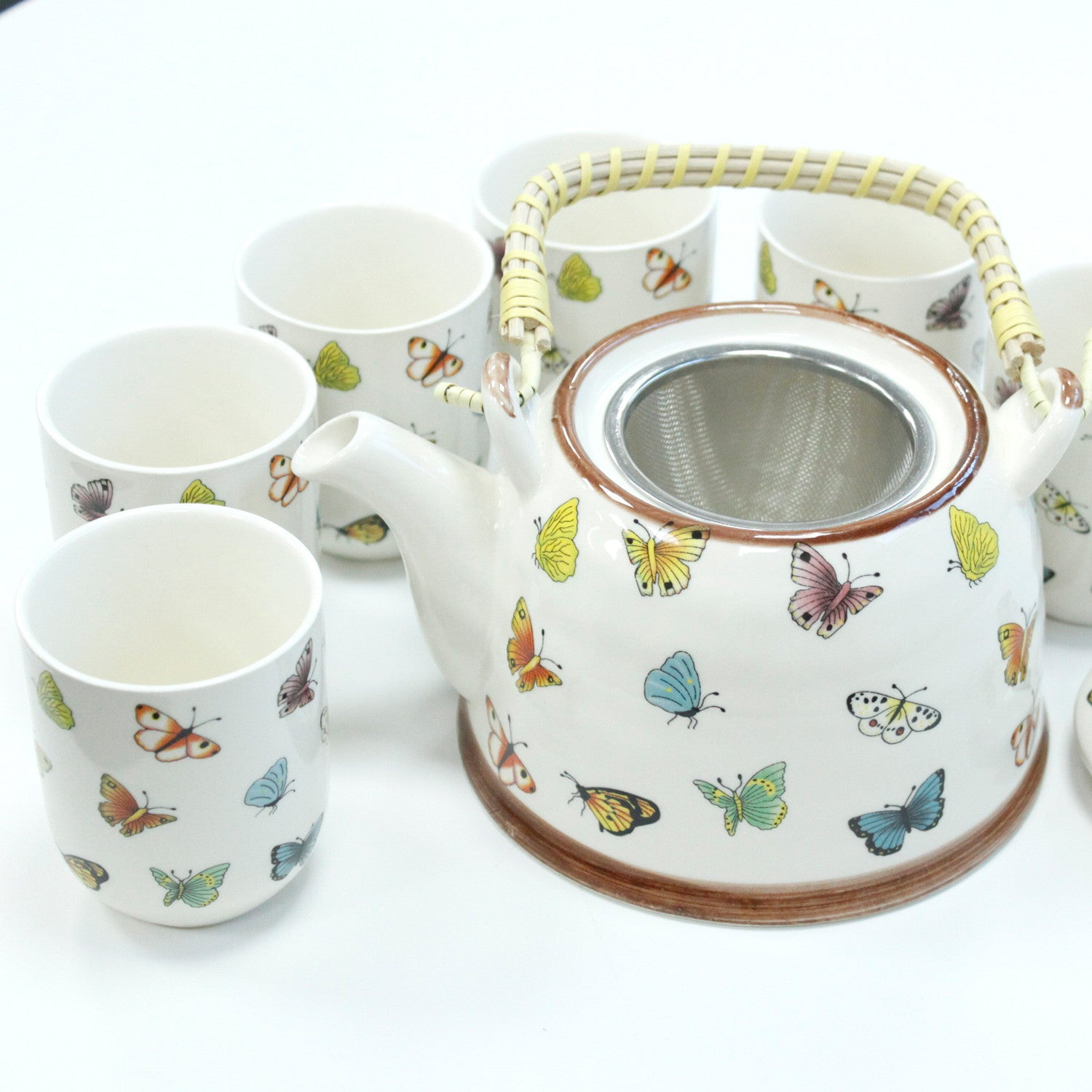 Herbal Teapot Set - Butterflies, Kitchen & Dining by Gifts24-7