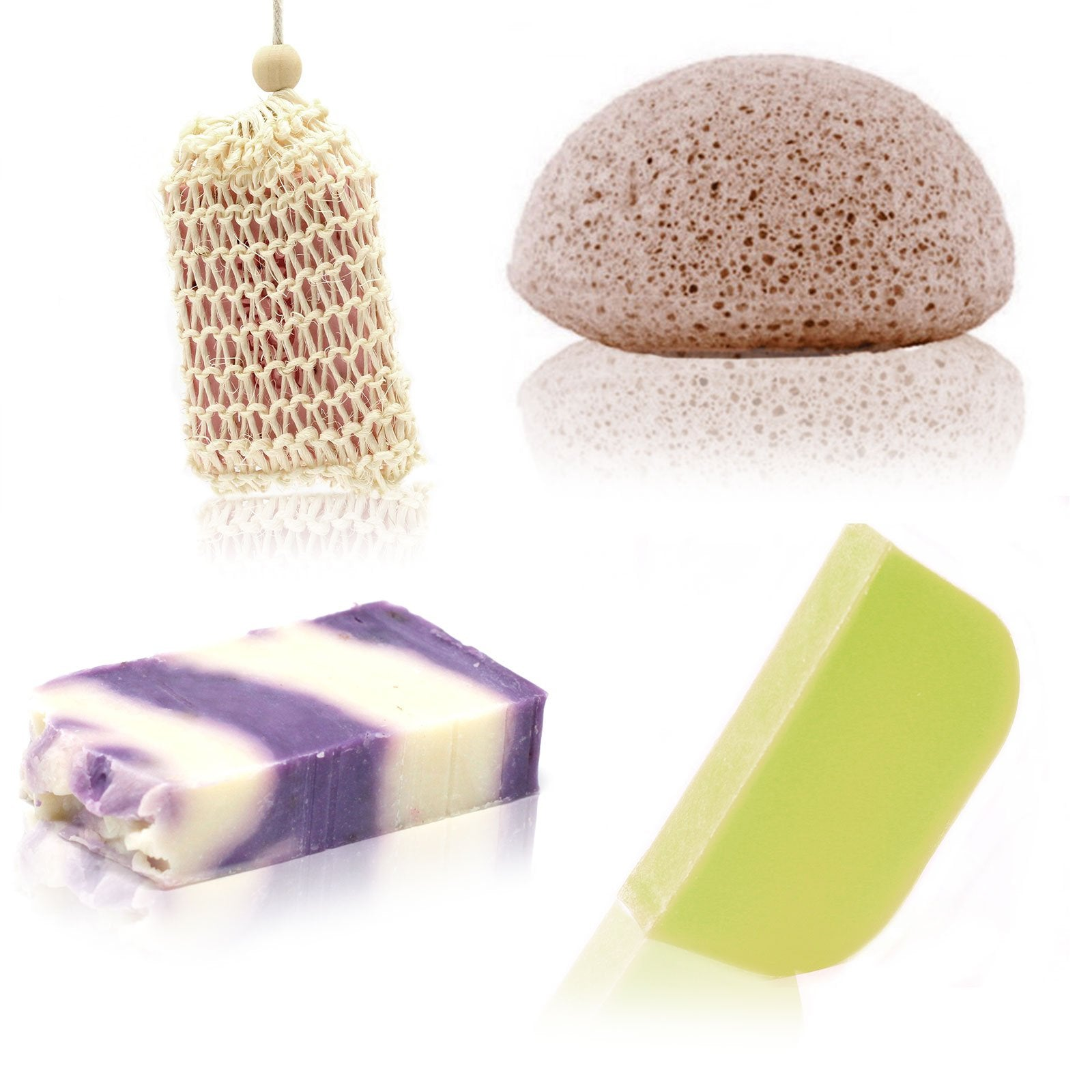 Soap, Solid Shampoo & Sponge Set, Hair Care by Low Cost Gifts