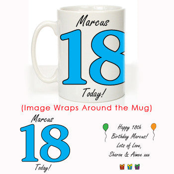 Personalised 18th Birthday Mug For Him - Shane Todd Gifts UK