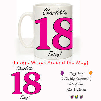Personalised 18th Birthday Mug For Her - Shane Todd Gifts UK