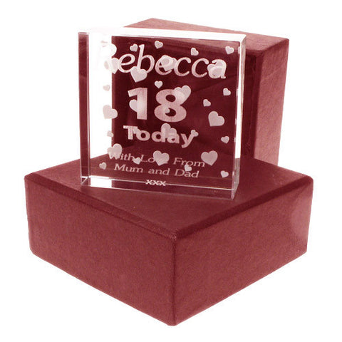 18th Jade Block for a Girl | ShaneToddGifts.co.uk