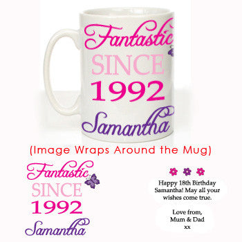Personalised 18th Birthday Mug - Shane Todd Gifts UK