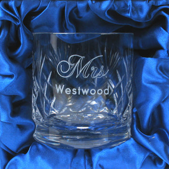Lead Crystal Engraved Whisky Glass for Her, Whisky - Image 0