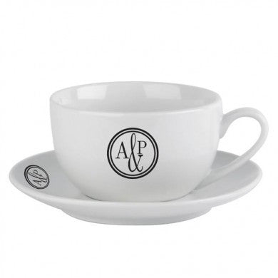 Monogram Circle Cup & Saucer - Shane Todd Gifts UK