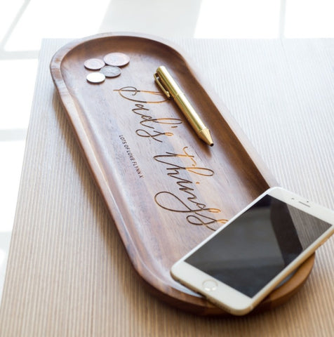 Personalised Wooden Concierge Tray | ShaneToddGifts.co.uk